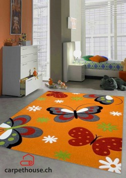 Kinderteppich DIAMOND KIDS Schmetterling Orange