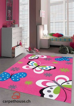 Kinderteppich DIAMOND KIDS Schmetterling fuscia