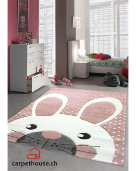 Kinderteppich Diamond  Pastel Kids Hase